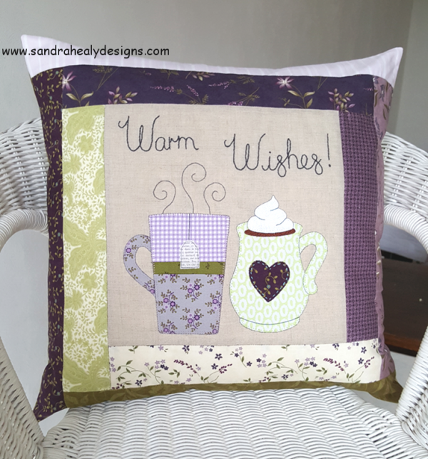 Sandra Healy Designs Warm Wishes Pillow digital pattern